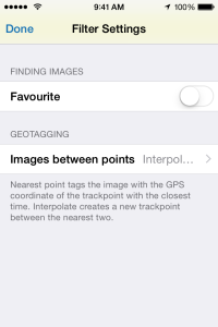Geotagging options