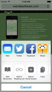 ShareEverywhere action menu
