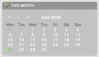 Quick Calendar on Sierra